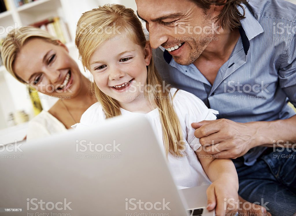 Sharing the fun side of modern technology royalty-free stock photo
