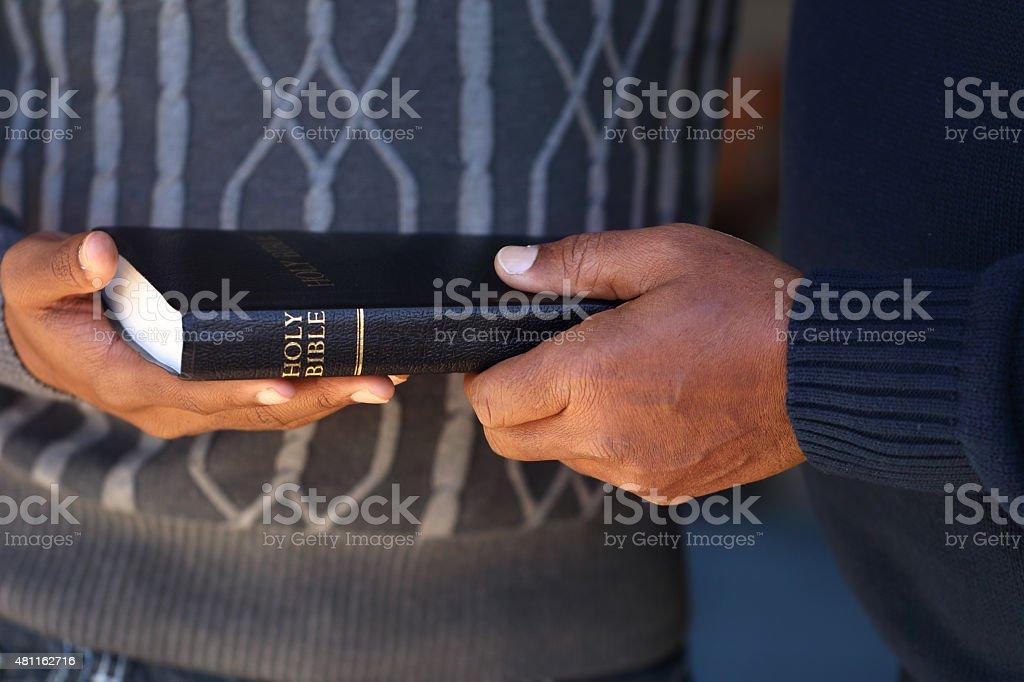 Sharing the Gospels stock photo