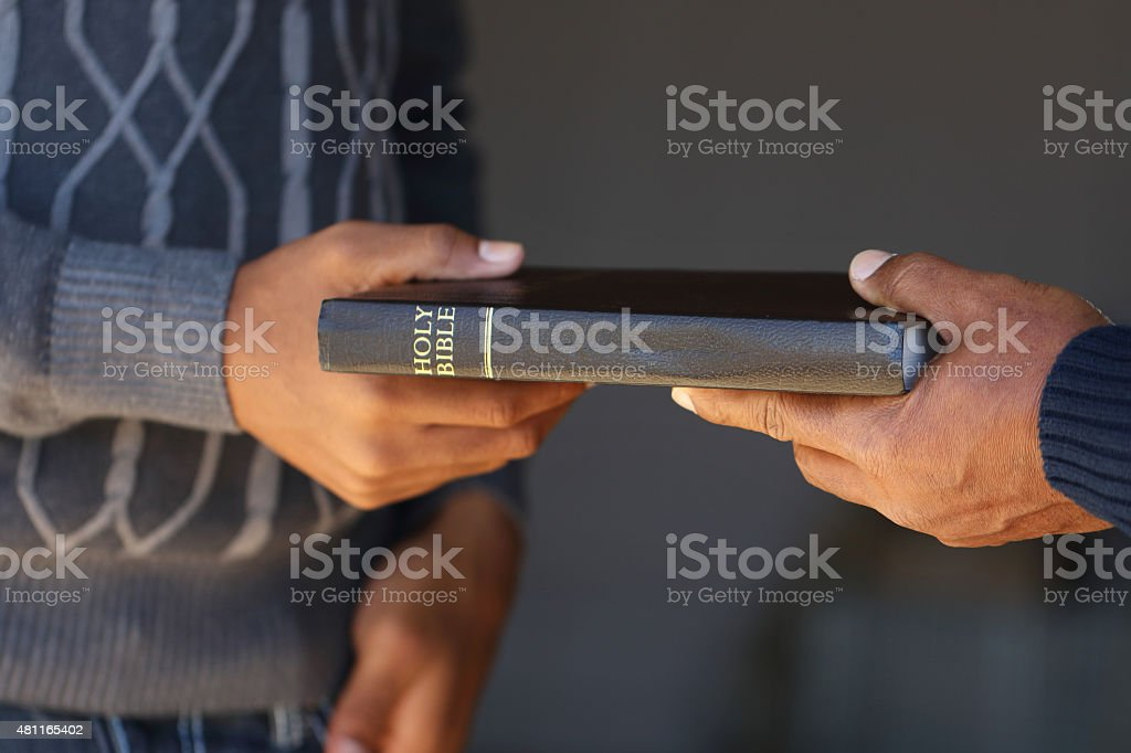 Sharing the Gospels stock photo