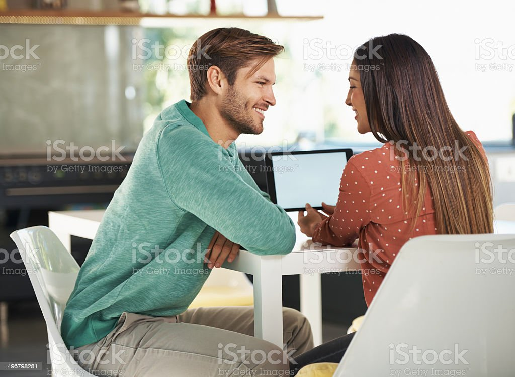 Sharing the love royalty-free stock photo