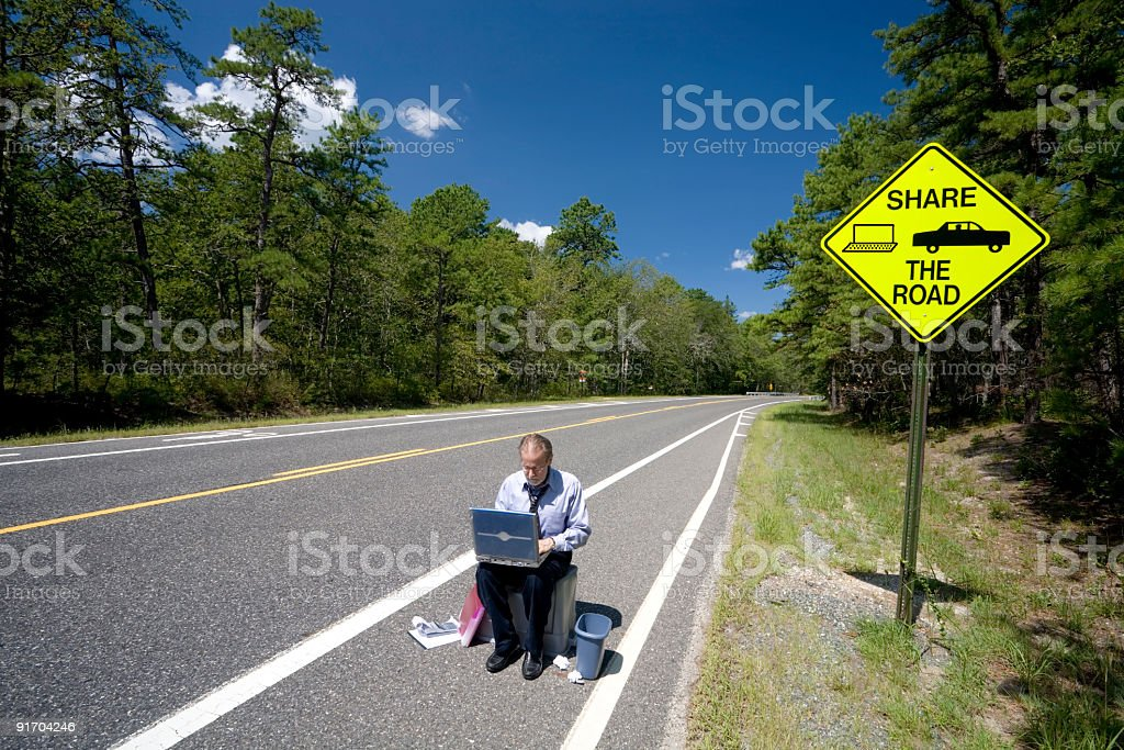 Sharing The Road - 3 royalty-free stock photo