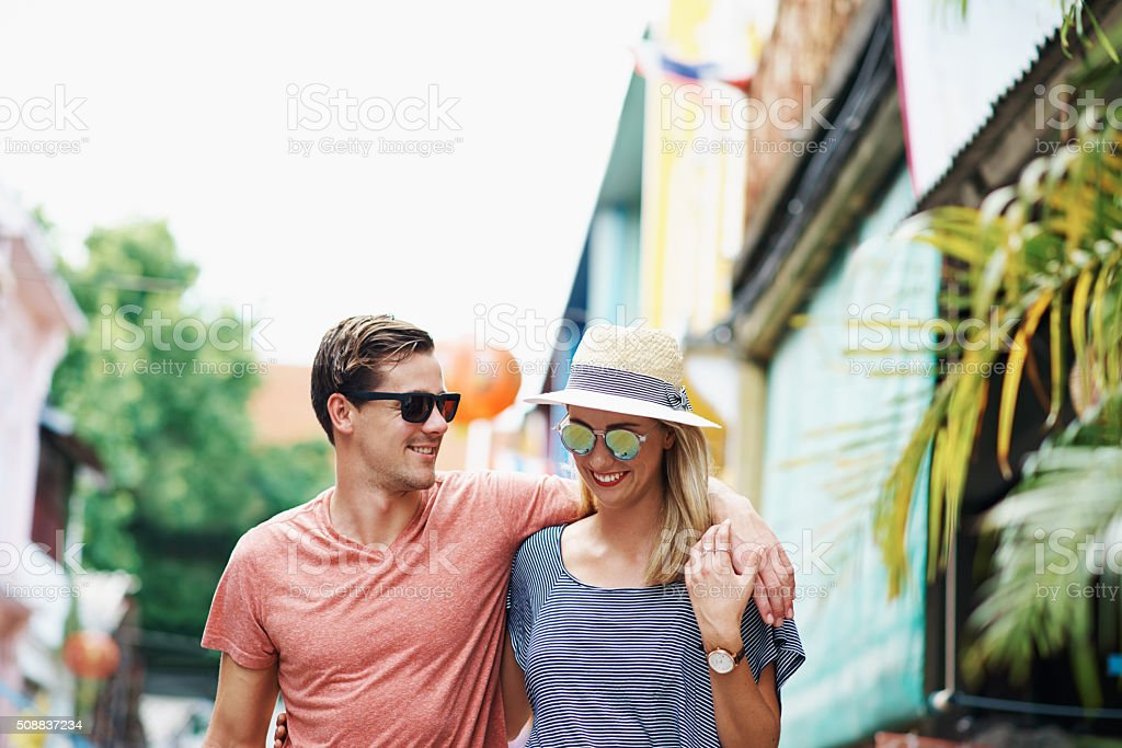 Sharing their love of adventure stock photo