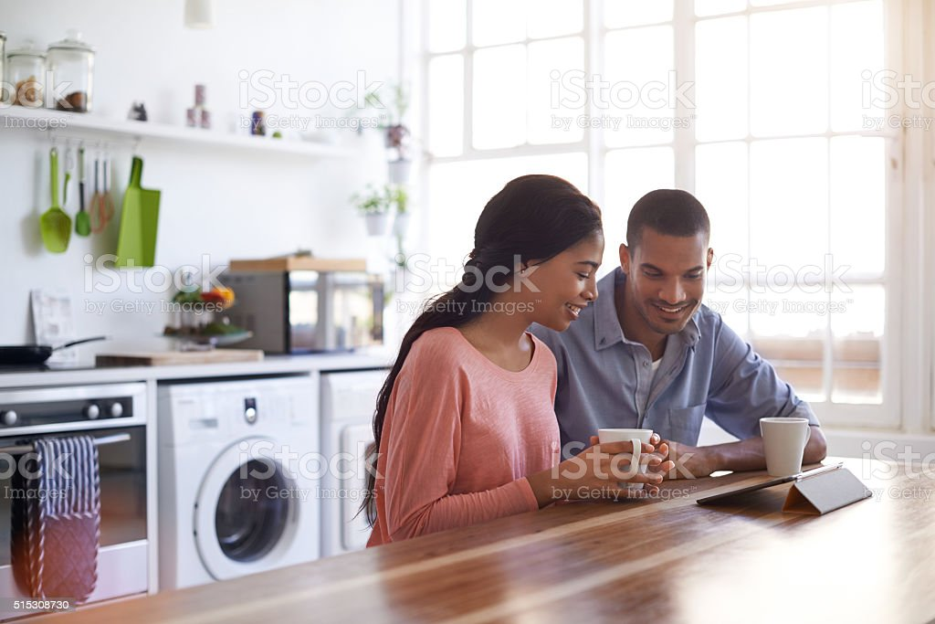 Sharing their morning together stock photo
