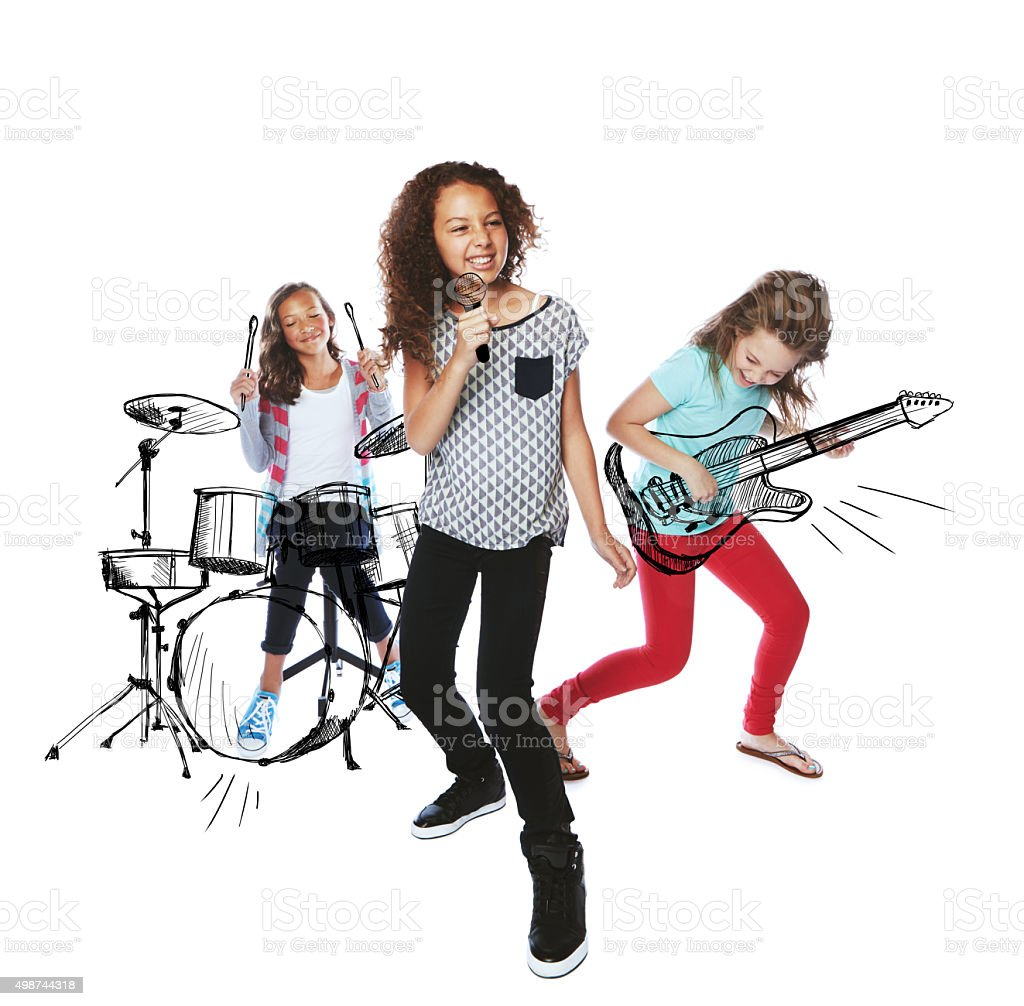 Sharing their musical talent stock photo