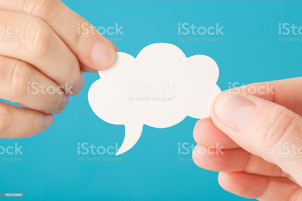 Sharing thoughts and information royalty-free stock photo