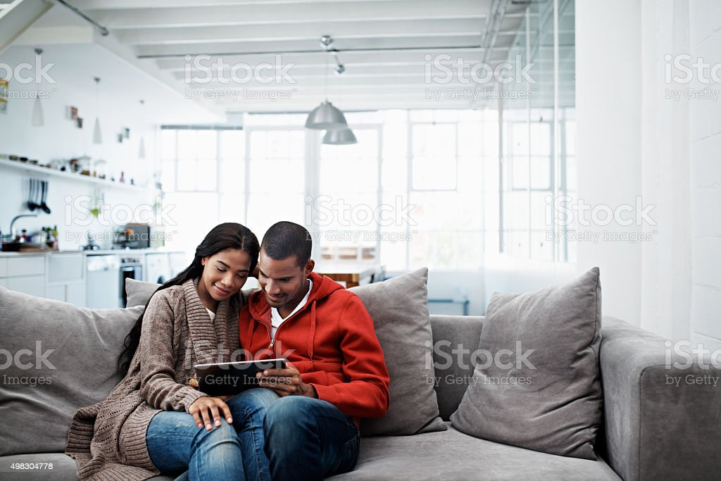 Sharing time online stock photo