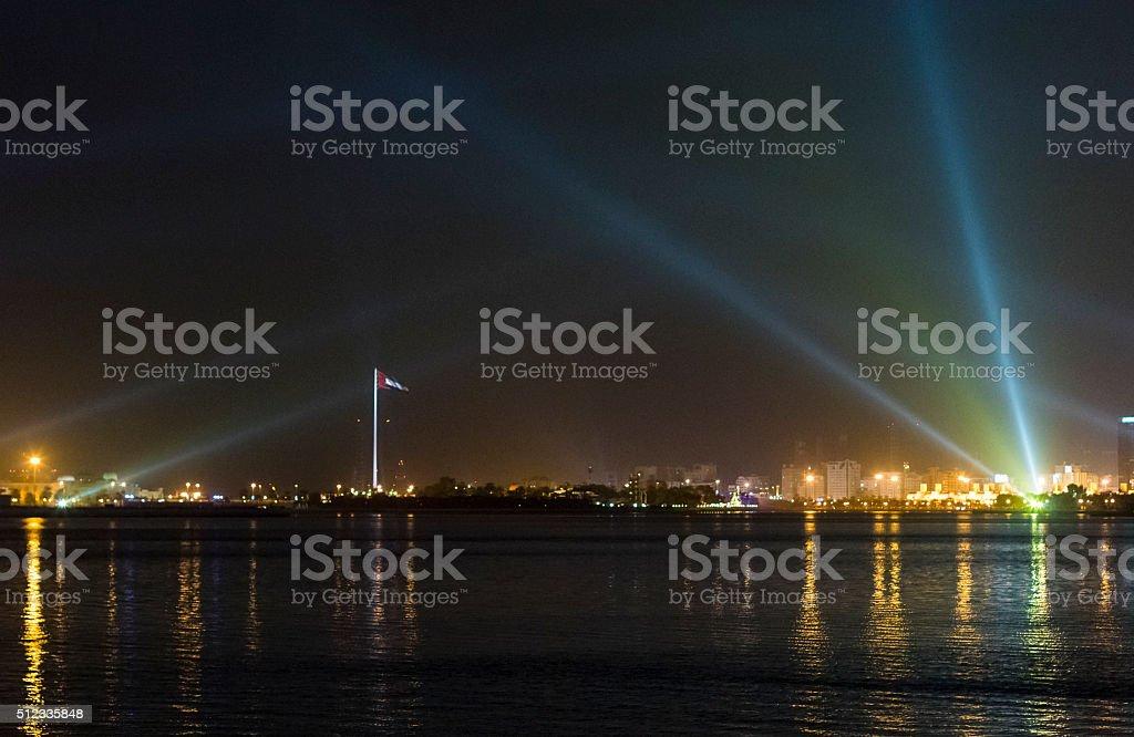 Sharjah, Al Khalid Lagoon stock photo