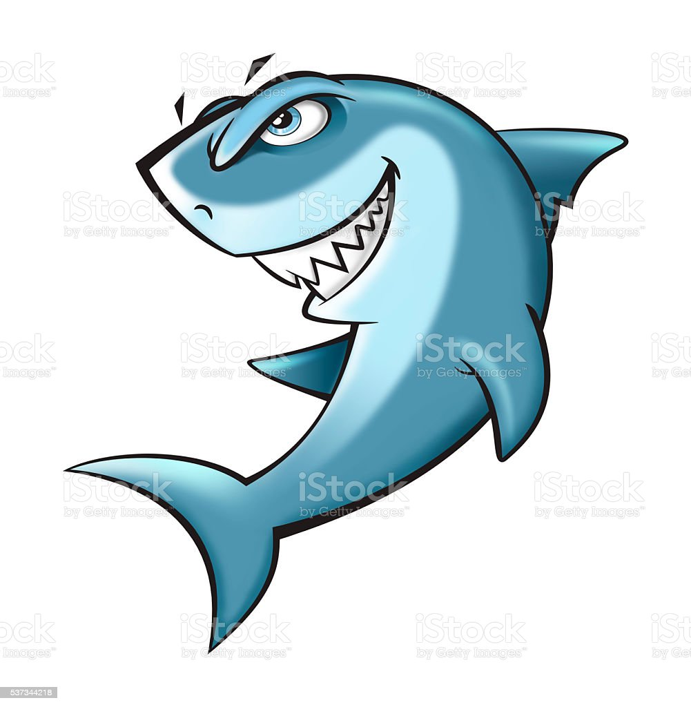 shark cartoon stock photo