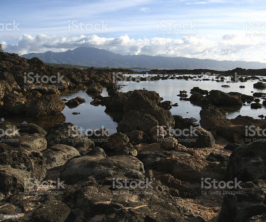 Shark's Cove Beach - Hawaii stock photo