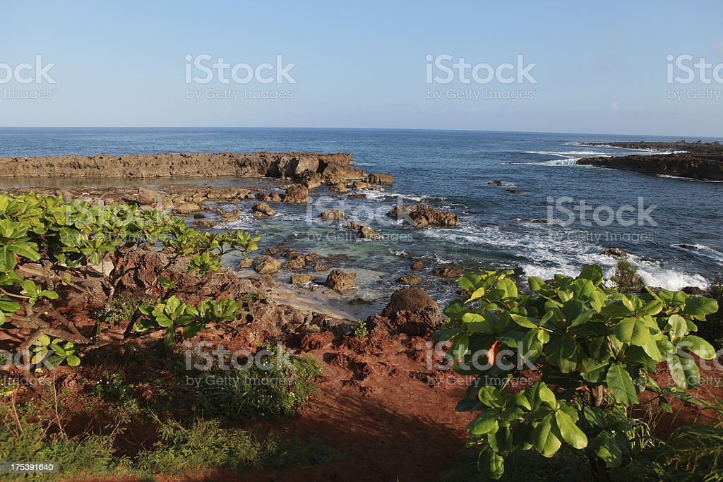 Shark's Cove Oahu stock photo