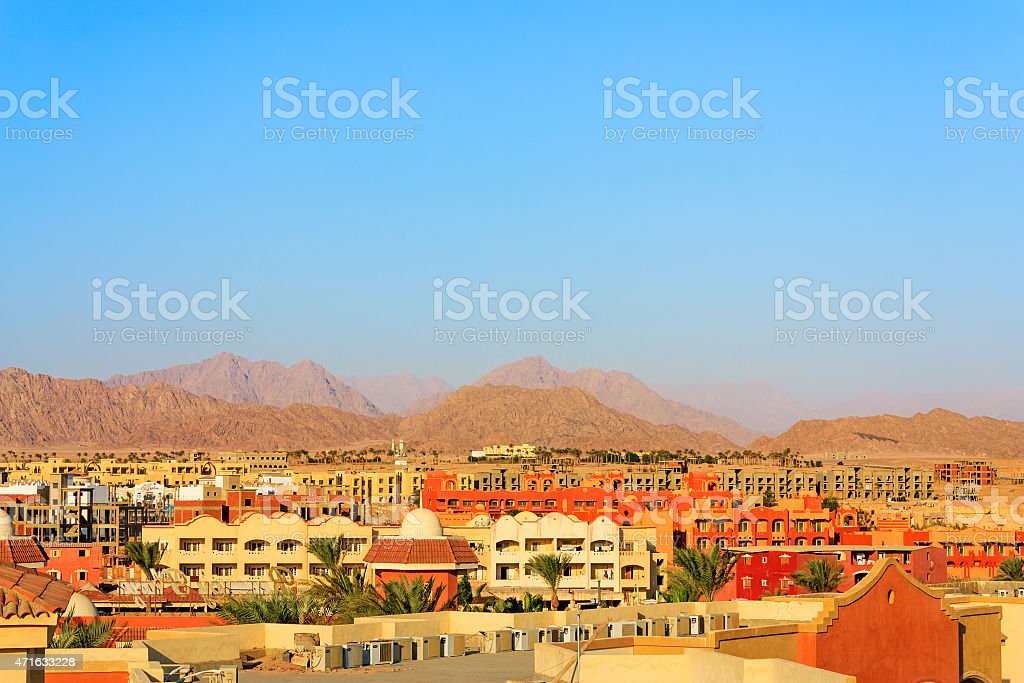 Sharm El Sheikh view stock photo