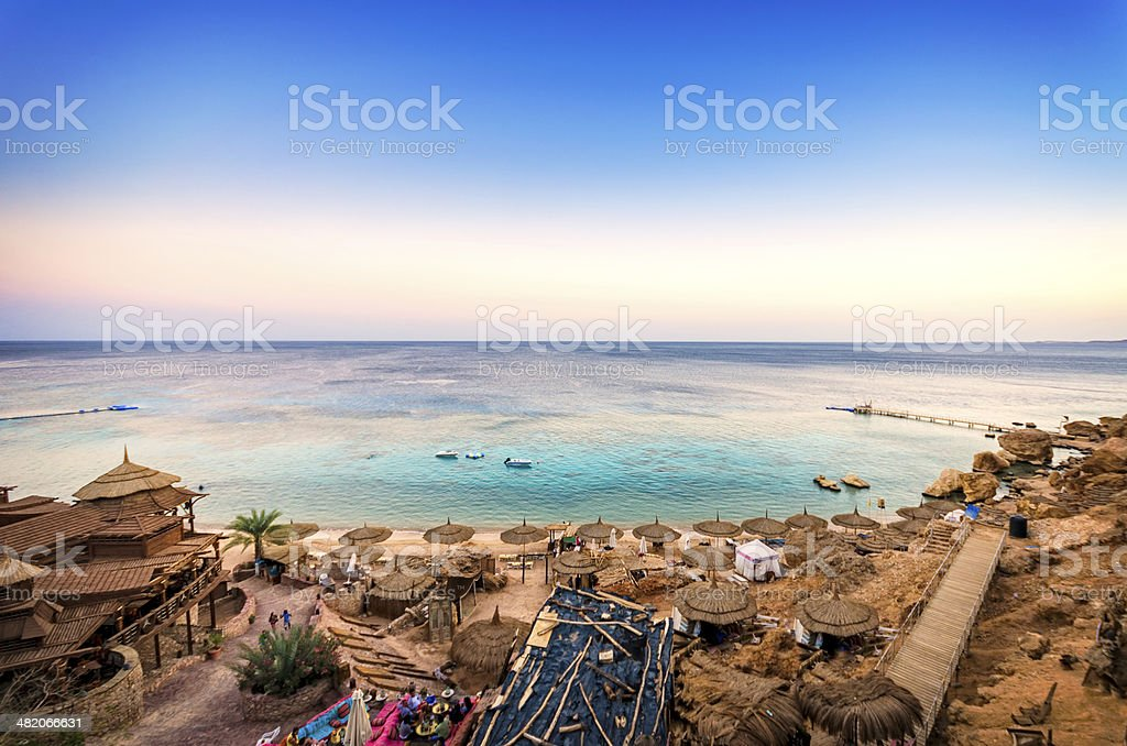 Sharm Sunset stock photo