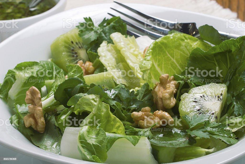 Sharp and sweet green salad stock photo