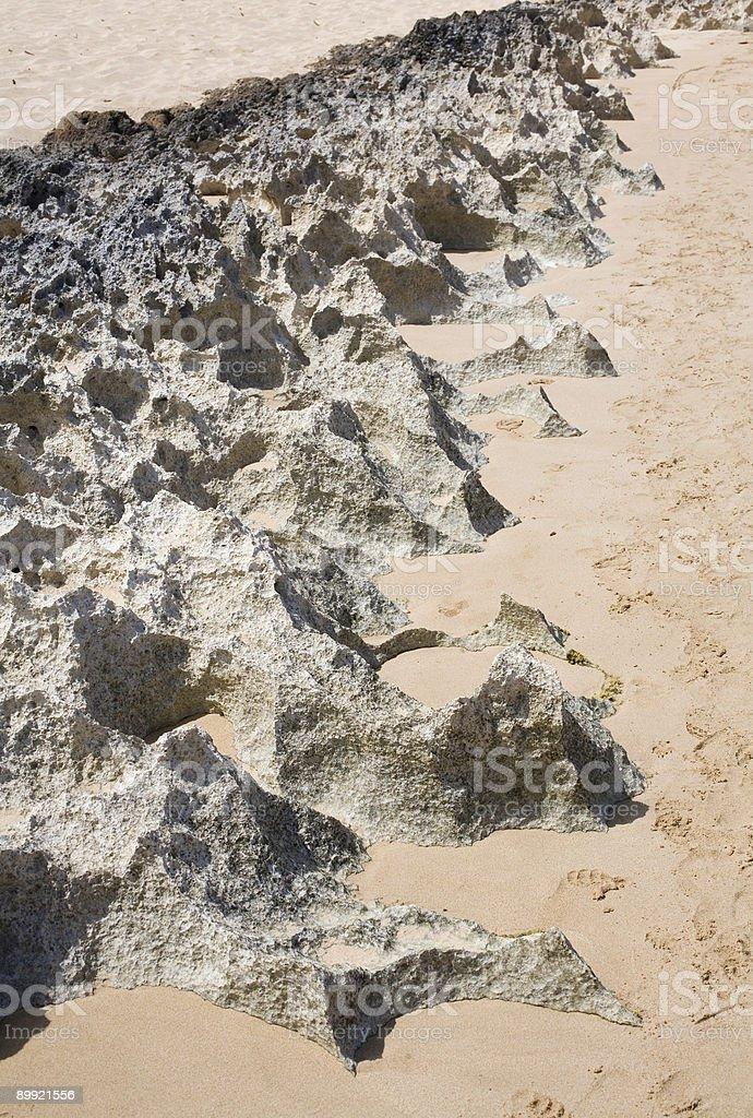 Sharp beach reef royalty-free stock photo