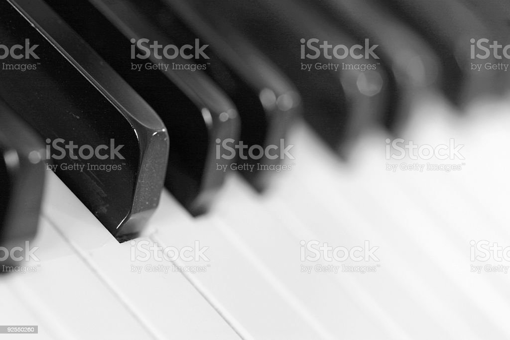 F sharp black and white stock photo
