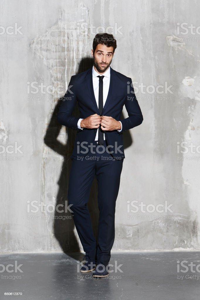 Sharp dressed dude stock photo