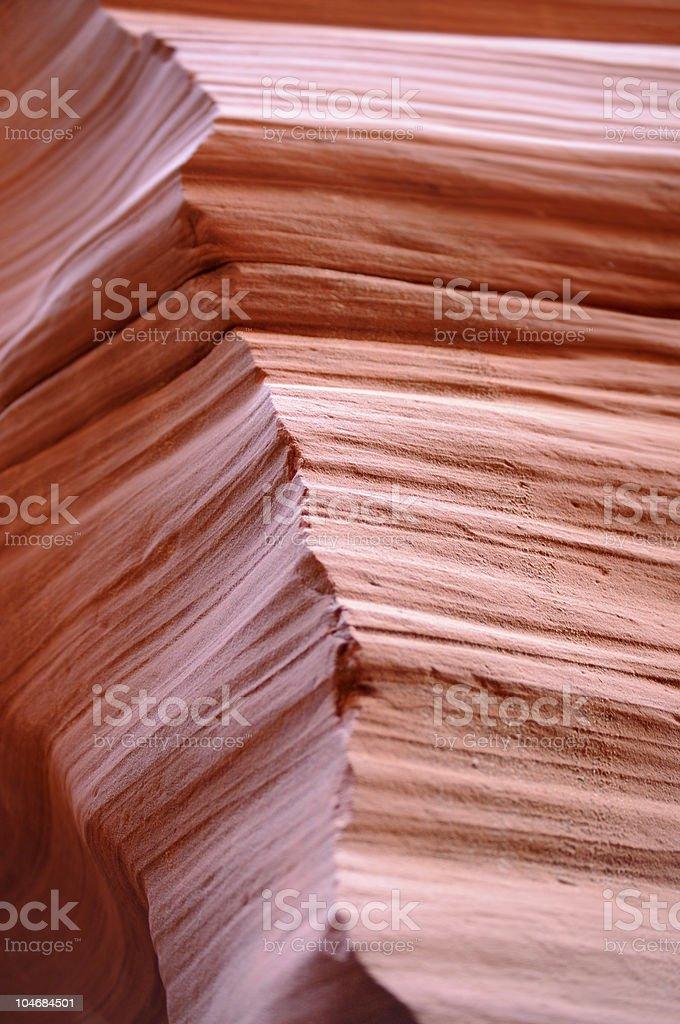 Sharp edge of eroded canyon wall stock photo