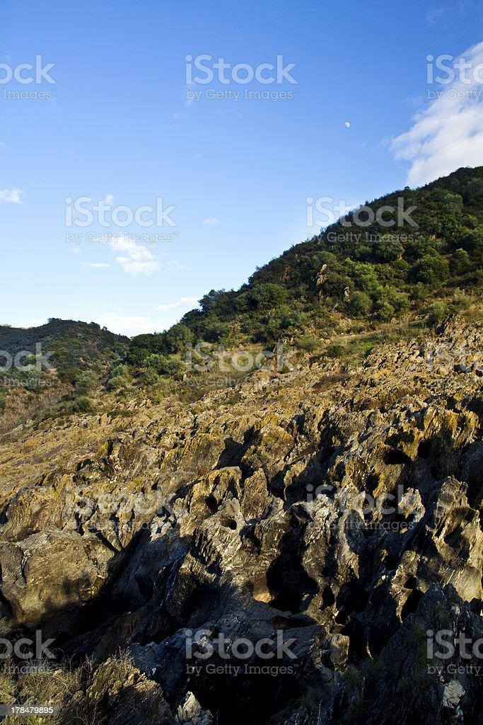 sharp edge rocks royalty-free stock photo