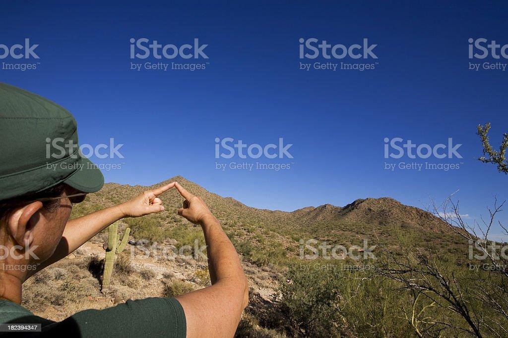 Sharp Mountain Top stock photo