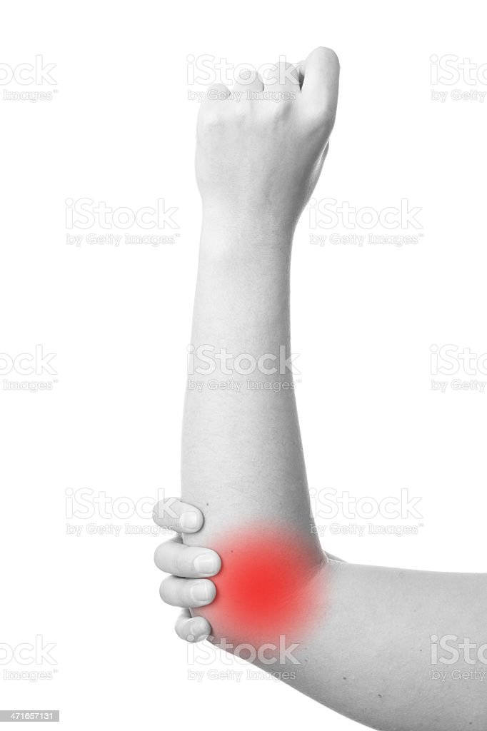 Sharp pain in a woman hand royalty-free stock photo