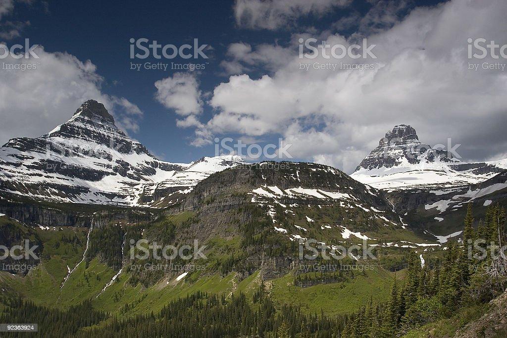 Sharp Peaks Glacier National Park royalty-free stock photo