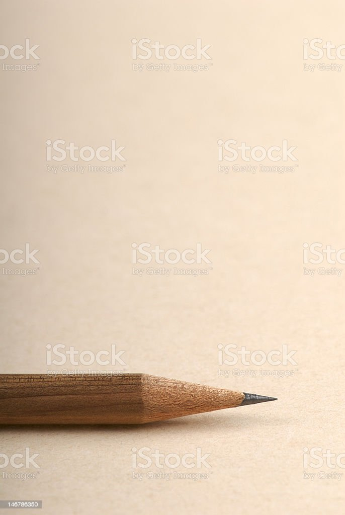 Sharp pencil nib stock photo