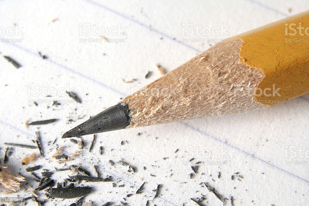 Sharp pencil stock photo