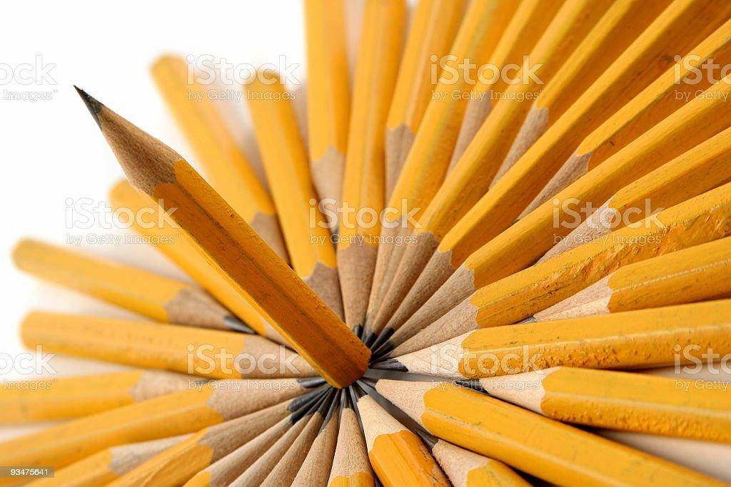 Sharp pencil royalty-free stock photo