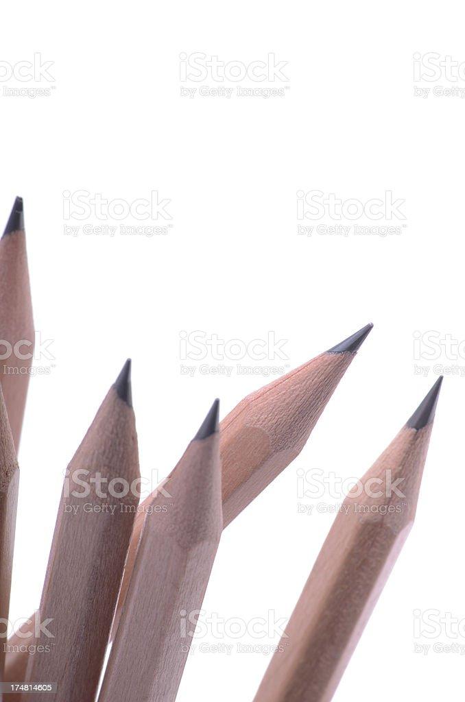 Sharp pencil tips royalty-free stock photo