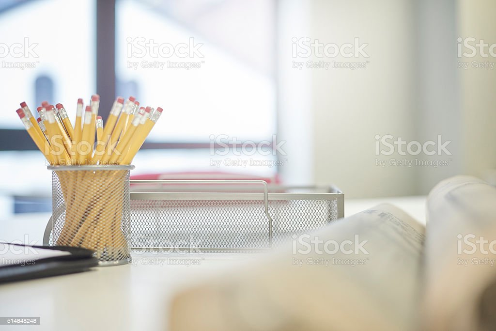 sharp pencils for the meeting stock photo