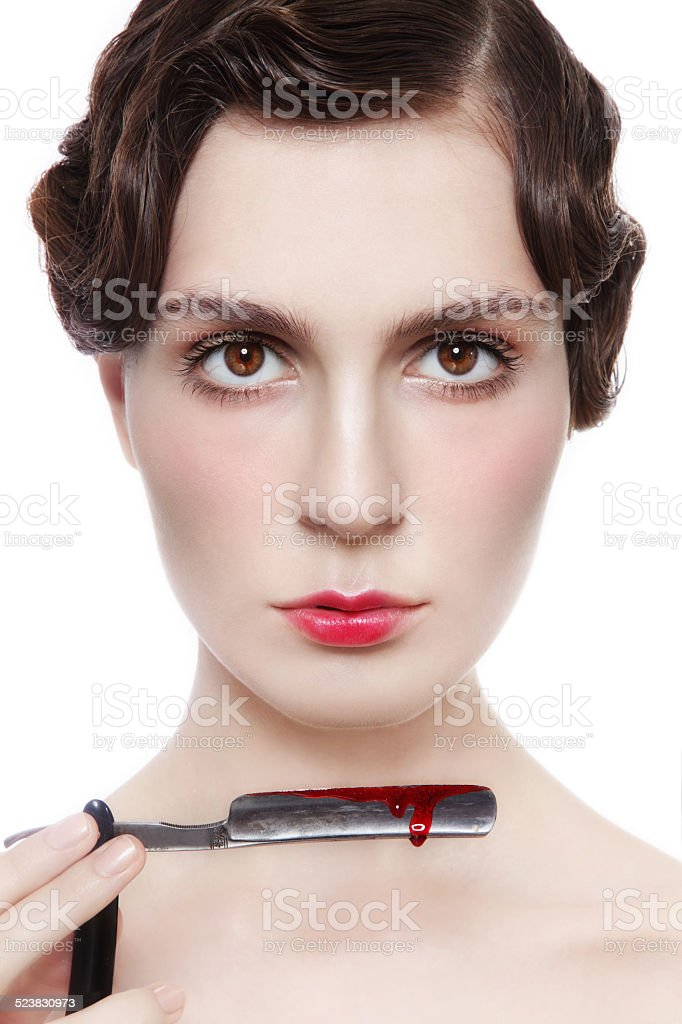 Sharp razor stock photo
