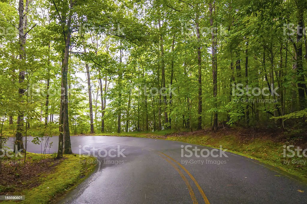 sharp road curve royalty-free stock photo