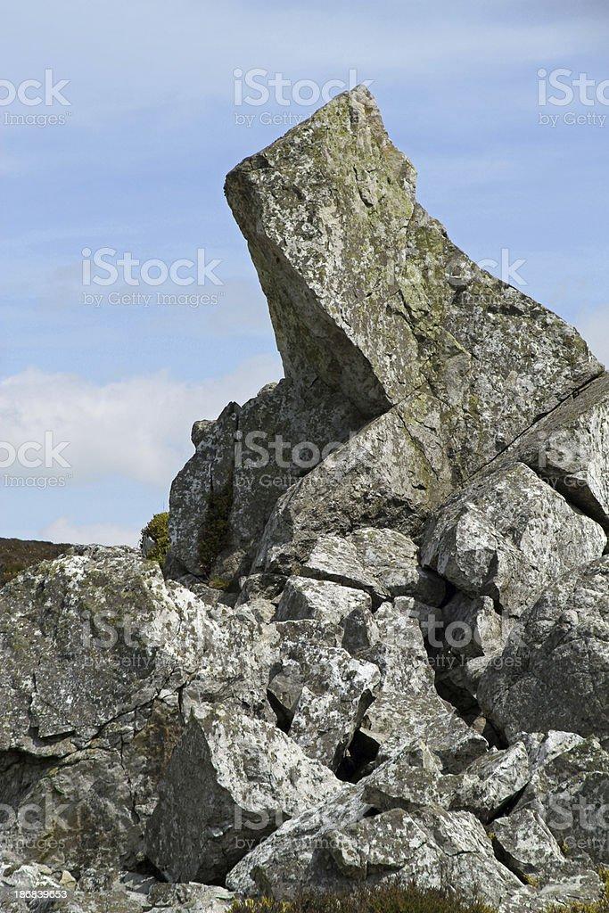Sharp Stone stock photo