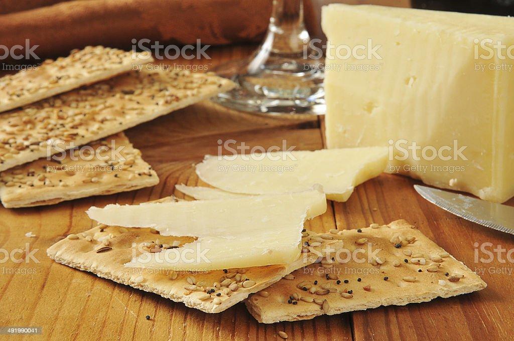 Sharp Vermont White cheddar cheese stock photo