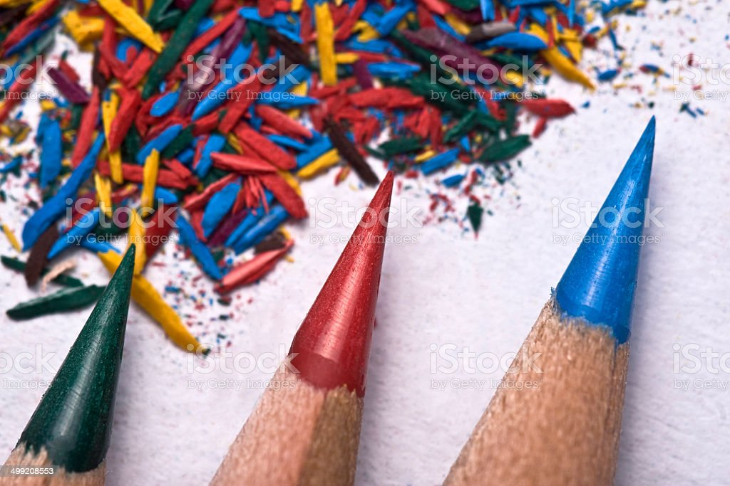 Sharpen the pencils stock photo