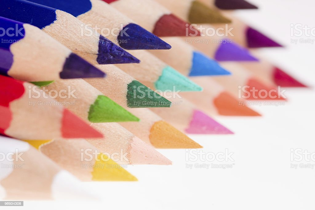 Sharpened Colored Pencils royalty-free stock photo