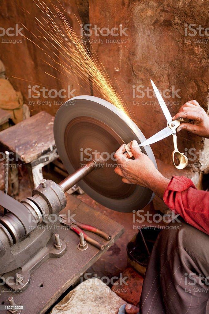 Sharpening Scissors stock photo