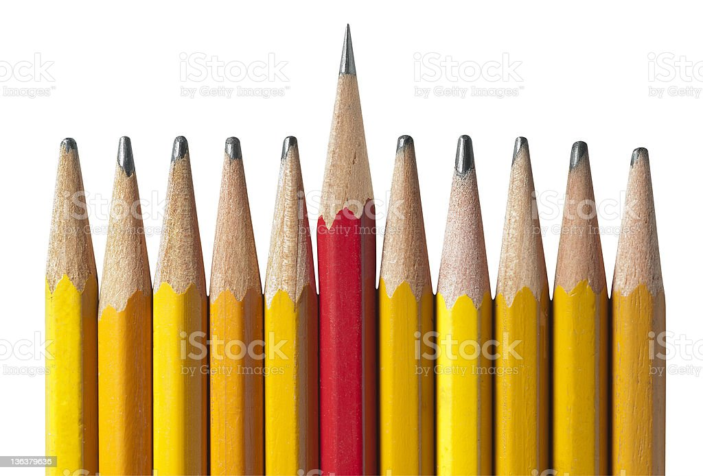 Sharpest Pencil in the Bunch,isolated stock photo