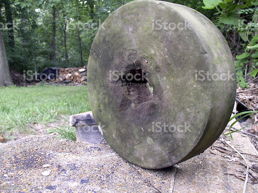 Sharping stone royalty-free stock photo