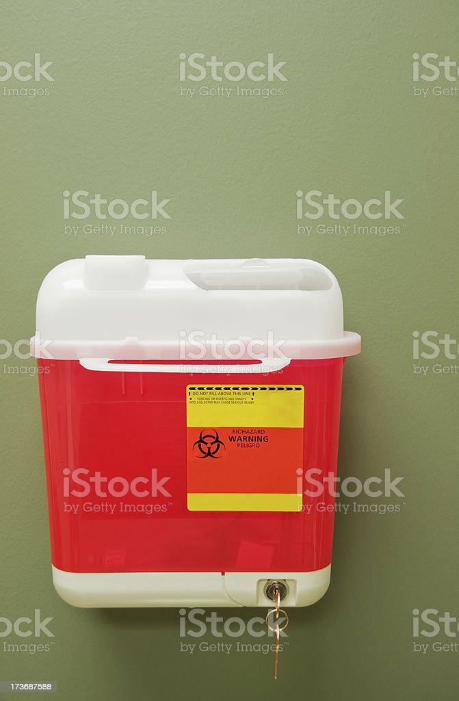 Sharps Container royalty-free stock photo