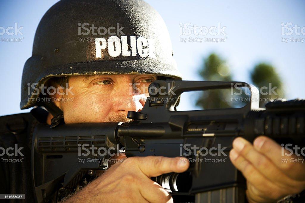 Sharpshooter Policeman (XXL) stock photo