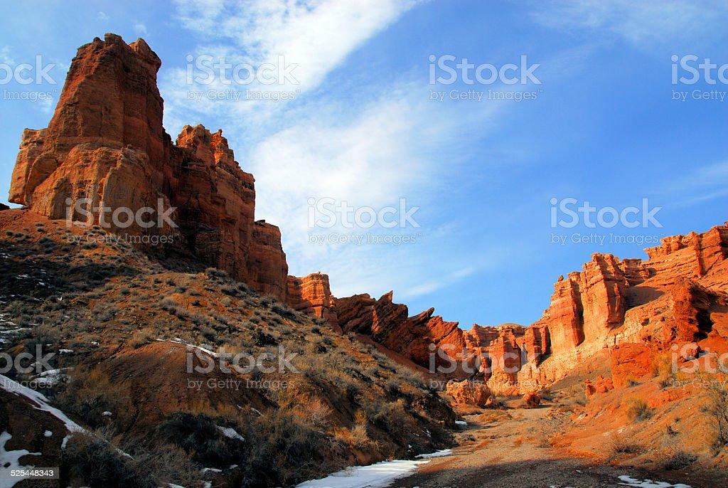 Sharyn Canyon, Kazakhstan stock photo