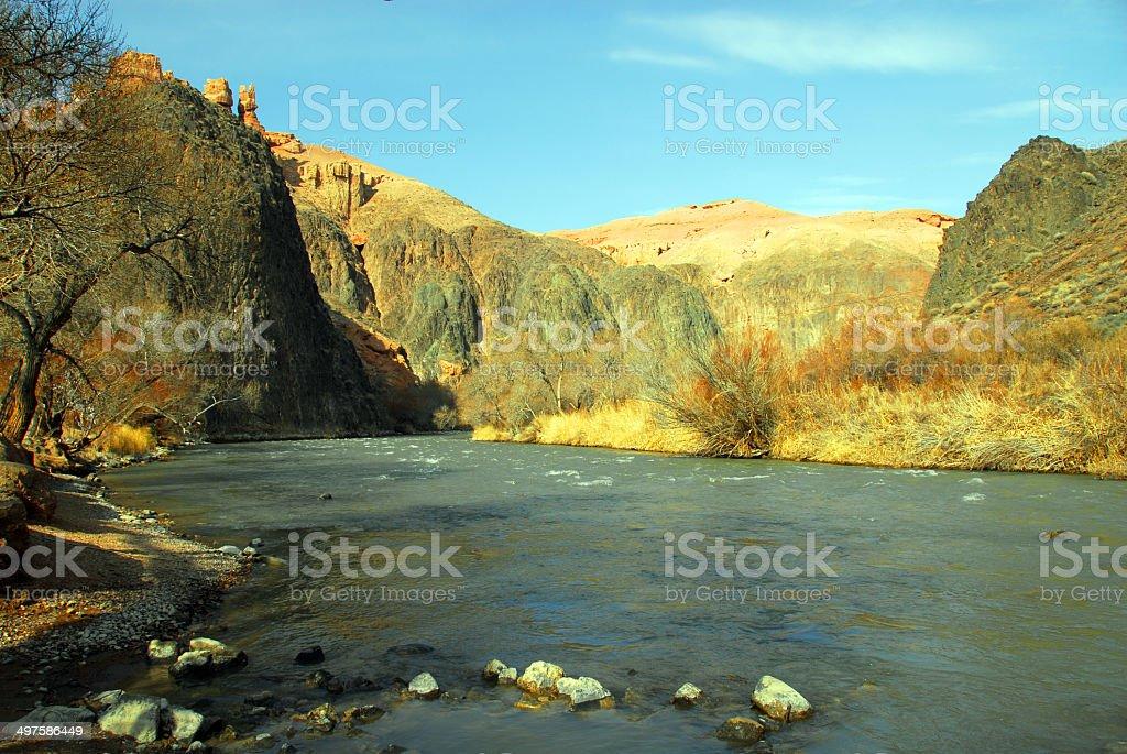 Sharyn River, Sharyn Canyon - Kazakhstan stock photo