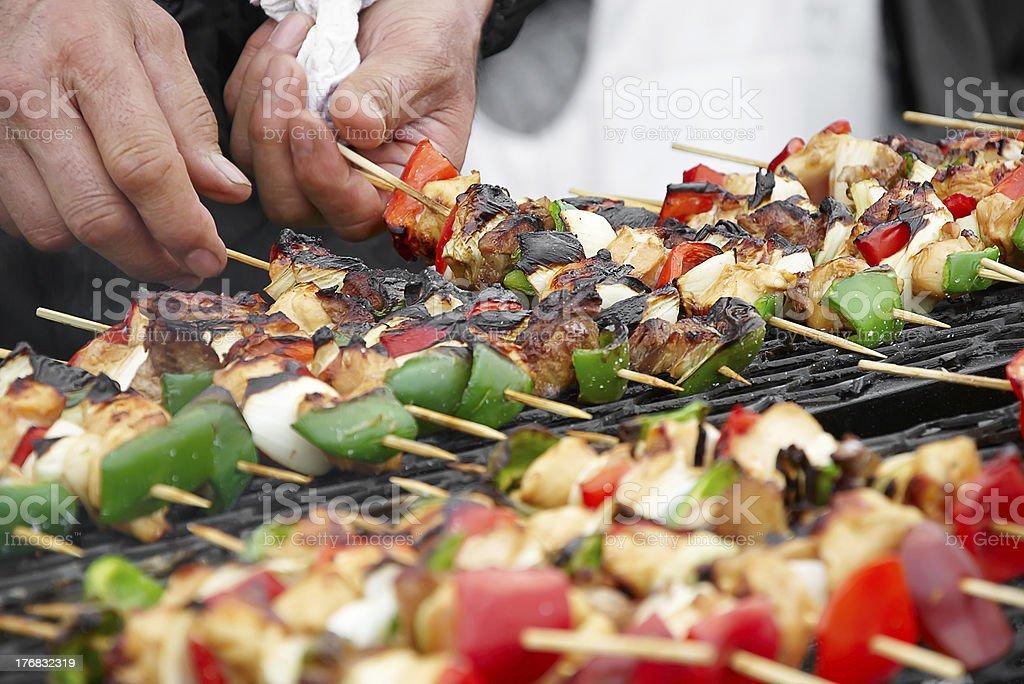 shashlik royalty-free stock photo