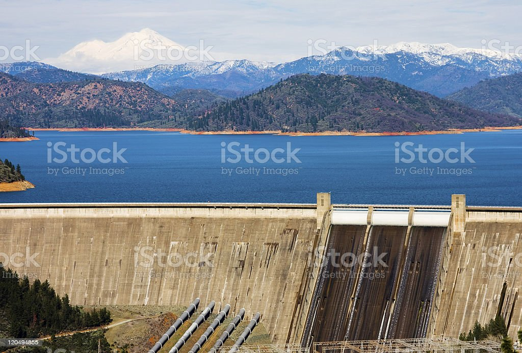 Shasta Dam stock photo