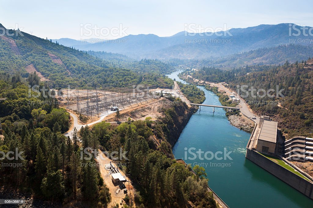Shasta Lake Hydroelectric Power Plant stock photo