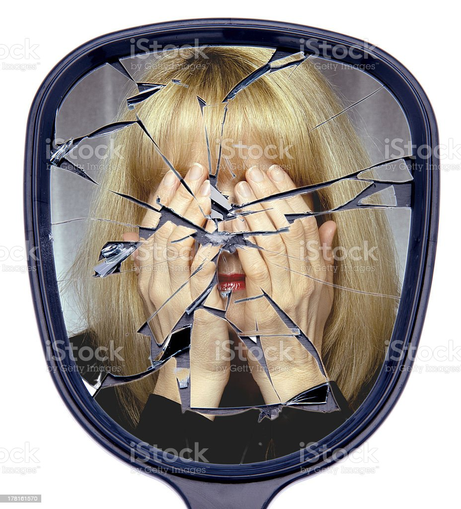 Shattered and Broken Life stock photo