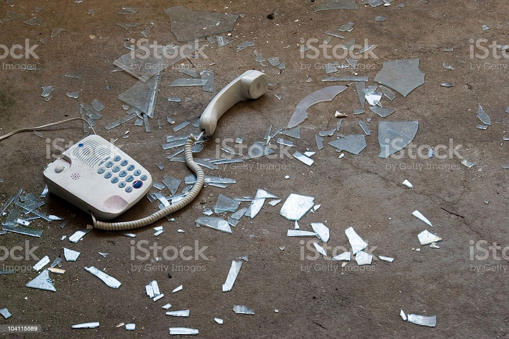 shattered connection royalty-free stock photo