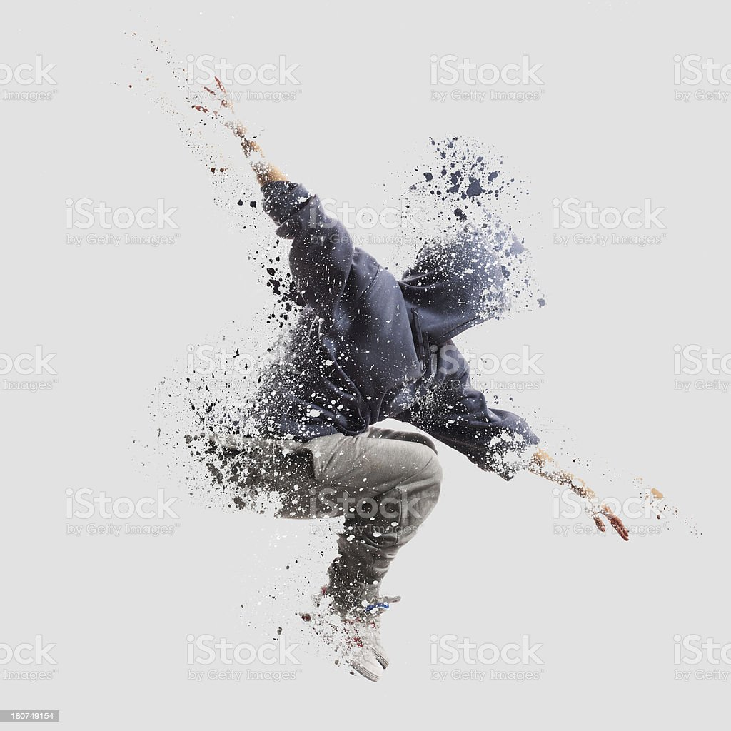 Shattered dancer stock photo