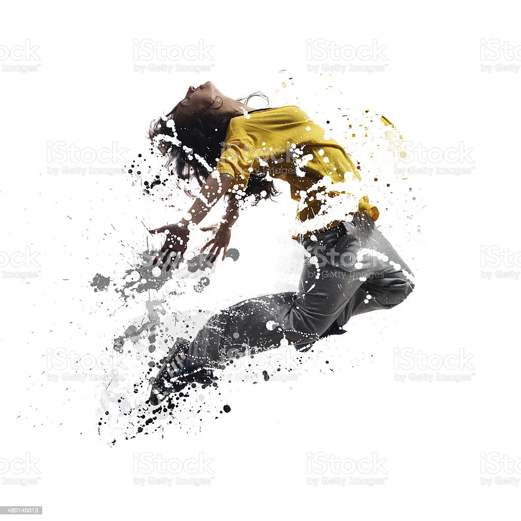 Shattered dancer stock photo